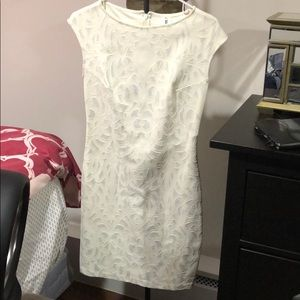 White shift dress with sparkle detailing